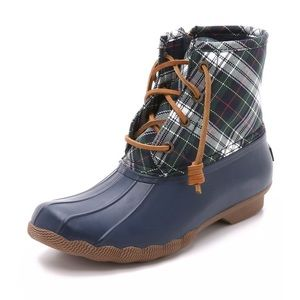 Sperry Saltwater Plaid Boots / Booties - Brand New